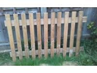 900mm high (3ft) palisade fence panel, 1400mm long plus one post