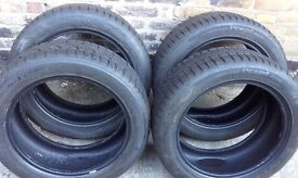"""set of 4 Hanncock winter tyres 235/50 18."""" great condition as seen in photos 6mm tread"""