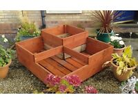 4ft sq wooden boxes