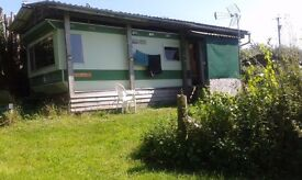 Static caravan.Rural West Wales.