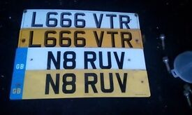 Private Number Plate L666 VTR