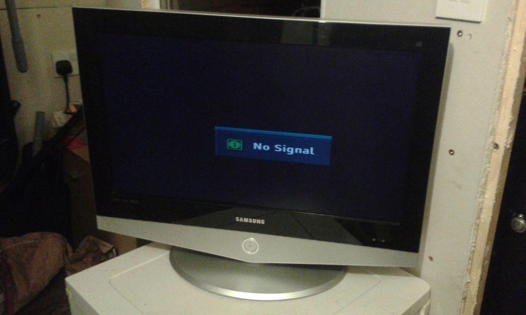 Samsung lcd tv no signal