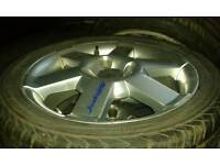 """16 """"FORD KA SPORT ALLOYS WITH BRAND NEW TYRES 195 45 16/ FITS MK1 FOCUS AND OTHER 4 STUD FORDS/"""