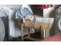 baby boy moses basket and stand