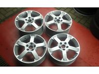 Genuine staggered 17 vauxhall vx220 speedster alloy wheels astra zafira etc rare