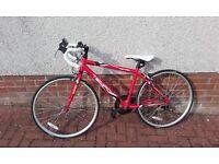 "Ideal Christmas Present - Kids 26"" Frame Red Racing Bike - Halfords - Never Ridden on the Road"