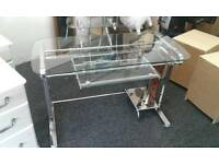 Fantastic Glass/Metal Computer Desk for sale, spotless condition!