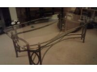 Glass top coffee table very good condition cost £1 30