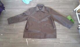 Milan Leather jacket size 18/20