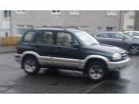 suzuki grand vitara 4x4 2493cc petrol automatic v reg 795 no offers