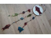 Coloured glass fish windchime
