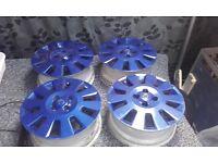 "4 x 100 Vauxhall alloys 15"" dark blue"
