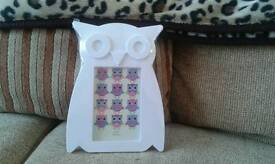 Brand New Funky Owl Photo Frame X 2