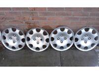 """Full Set of 4 Genuine 15"""" Peugeot Wheel Trims"""