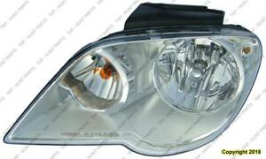 Head Lamp Passenger Side Halogen High Quality Chrysler Pacifica 2007-2008