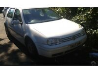 1999 Volkswagen Golf MK4 1.4 E white LB9A DUW BREAKING FOR SPARES