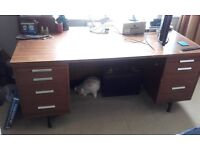 Large Solid Wood Executive Desk