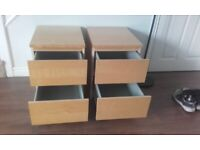 IKEA Bedside Cabinets TWO OF . VERY LOCAL Delivery Possible .
