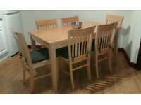 Solid beech dining set