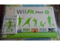 Wii Fit Plus Board and Wii Fit Game.