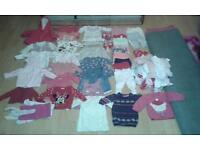Baby girls big bundle over 55 items clothing age 3-6 months
