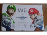 Wii - Mario Kart, Used once, plus 2 extra games