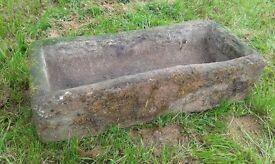 sand stone trough planter reclaimation reclaimed sandstone
