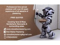 Rob Walker Plastering, time served, >25 years experience, plastering, tiling, rendering.FREE QUOTES