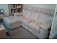 Free leather sofa. Not best condition. Collection only.