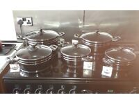 10 piece marble cookware set.