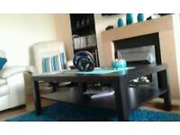 Ikea black coffee table.