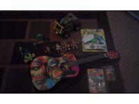 huge turtles bundle figures , van ,trike, toys, and the best guitar you've ever seen £60