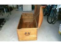 Very large old pine chest