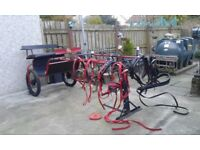 Road Cart and Harnesses For Sale
