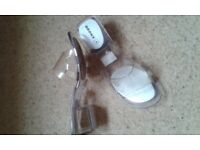 Funky Clear Plastic Sandals. Size 6 (39). Ex. cond. Reluctant sale.