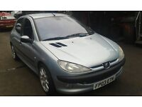 2003 Peugeot 206 1.4 HDi LX 5dr SR silver BREAKING FOR SPARES