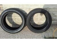 Two Part Worn Tyres 205/50 R17