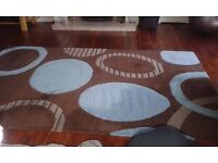 Rug - wool - very good condition 160cmx240cm - brown and blue mix