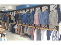 Ironwork wall Shopfittings for clothing retail - whole shop's worth clearance