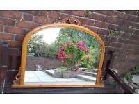 Overmantle Mirror, Edwardian.