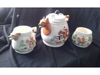 Vintage Fox Hunting Tea Set
