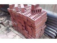 Household bricks. New, unused