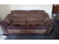 3 SEATER SOFA AND CHAIR AND POUFFE