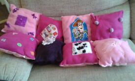 Handmade childrens cushions