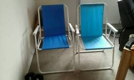 2x folding chairs 15.00 for both
