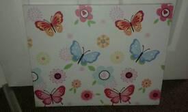 NEW butterfly canvas wall art