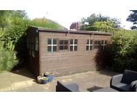 14 feet by 8 feet shed with french doors