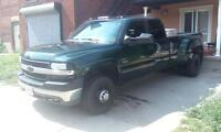 02 chevy k3500 4x4 duramax, alison, leather