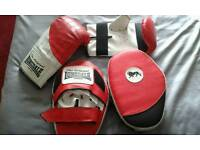 Boxing mitts and pads