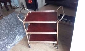 Gold and melamine drinks trolley, Circa 1960s
